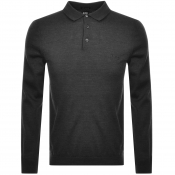 BOSS HUGO BOSS Bono Polo Knit Jumper Grey